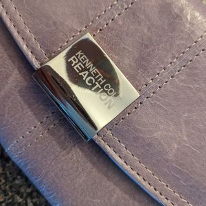 Kenneth Cole purple leather wallet NWOT.